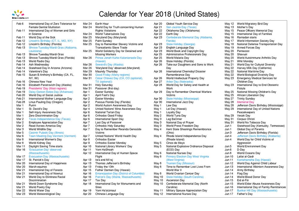 United-States-2018_calender-mandarin