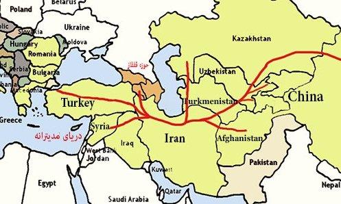 مسر جاده ابریشم در ایران